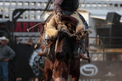 Wyatt Casper on CS Z-46 Zelda's Whitney at Hardgrass Bronc Match 2018