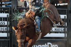 Jacobs Crawley on CS A-1 Arriving Kamloops at Hardgrass Bronc Match 2018