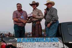 Winner Clay Elliott of the Hardgrass Bronc Match 2018