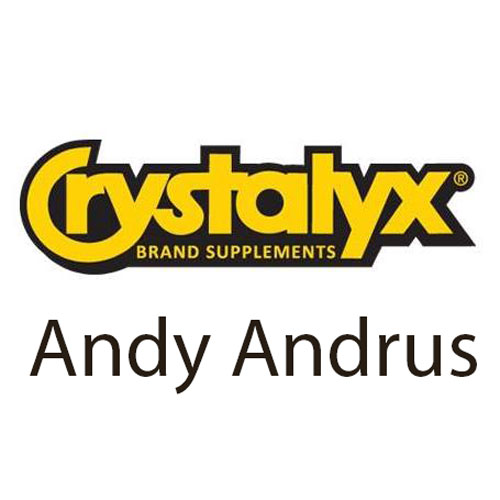 Sponsor Andy Andrus with Crystalyx